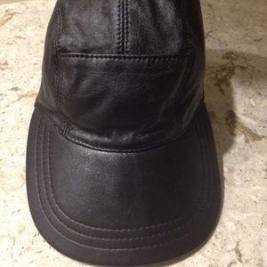 BURBERRY Ladies Leather Cap